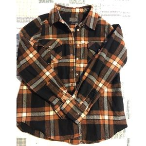 Pendleton orange wool flannel